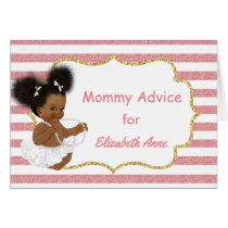 Vintage African American Baby Shower Mommy Advice