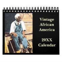 Vintage African American Calendar