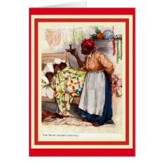 Vintage African American Christmas Caed Card at Zazzle