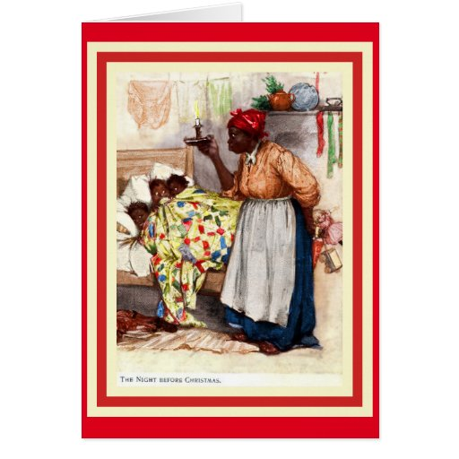Vintage African American Christmas Caed...