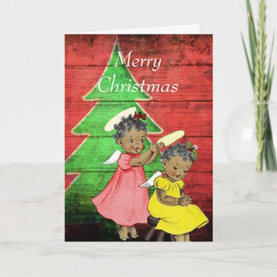 Vintage African American Christmas Card Zazzle Com