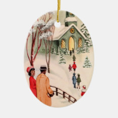 Vintage African American Christmas Ornament at Zazzle
