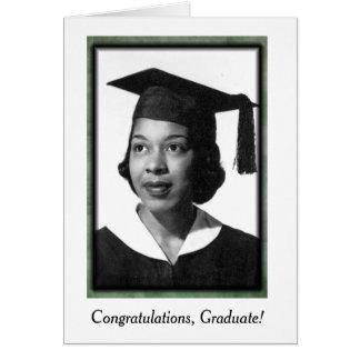 Vintage African American Graduation Card