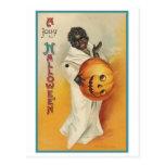 Vintage African American Halloween Postcard