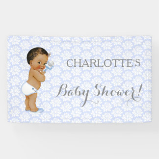 Vintage African American Latino Ethnic Baby Boy Banner