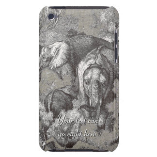 Vintage African Elephants iPod Case