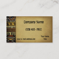 Vintage African Mud Cloth Business Card