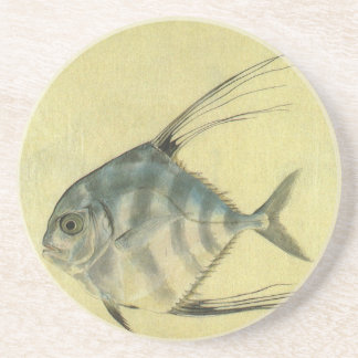 Vintage African Pompano Fish, Threadfin Trevally Coaster