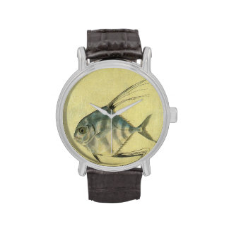 Vintage African Pompano Fish, Threadfin Trevally Wristwatch