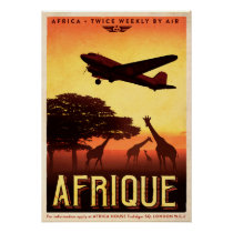 Vintage African Travel Poster