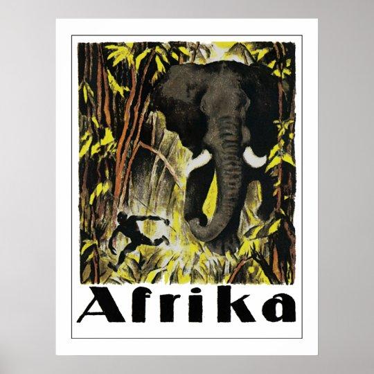 Vintage Afrika Poster