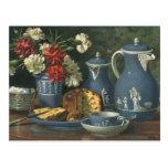 Vintage Afternoon Coffee, Cake, Tea and Flowers Postcards