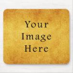 Vintage Aged Amber Burnt Umber Parchment Paper Mouse Pad