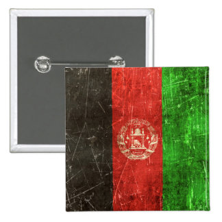 Vintage Aged and Scratched Flag of Afghanistan Pins
