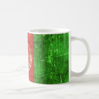 Vintage Aged and Scratched Flag of Afghanistan Coffee Mugs