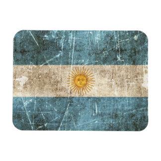 Vintage Aged and Scratched Flag of Argentina Vinyl Magnet