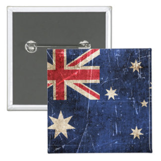 Vintage Aged and Scratched Flag of Australia Pins