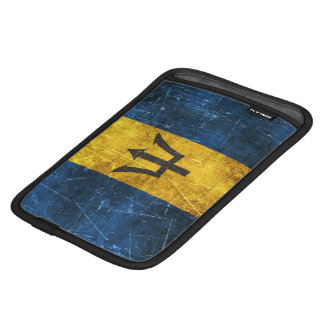 Vintage Aged and Scratched Flag of Barbados iPad Mini Sleeve