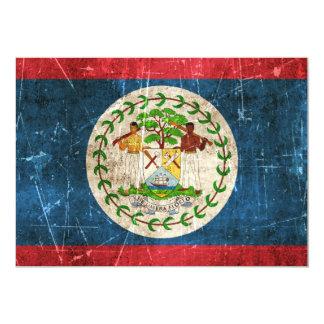 Vintage Aged and Scratched Flag of Belize Card