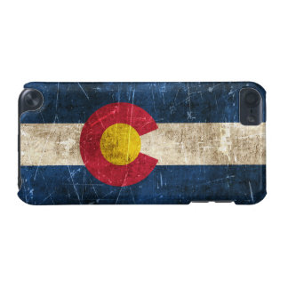 Vintage Aged and Scratched Flag of Colorado iPod Touch (5th Generation) Cover