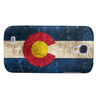 Vintage Aged and Scratched Flag of Colorado Samsung Galaxy S4 Cover