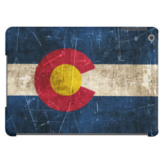 Vintage Aged and Scratched Flag of Colorado iPad Air Cover