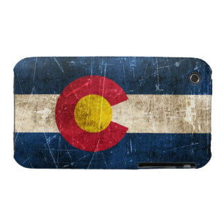 Vintage Aged and Scratched Flag of Colorado iPhone 3 Cases