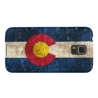 Vintage Aged and Scratched Flag of Colorado Case For Galaxy S5