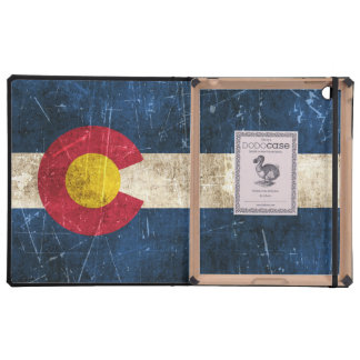 Vintage Aged and Scratched Flag of Colorado iPad Folio Case