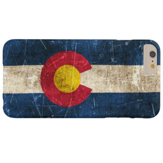 Vintage Aged and Scratched Flag of Colorado Barely There iPhone 6 Plus Case