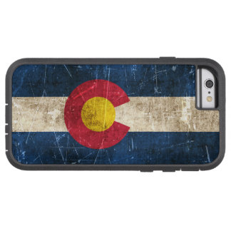 Vintage Aged and Scratched Flag of Colorado Tough Xtreme iPhone 6 Case