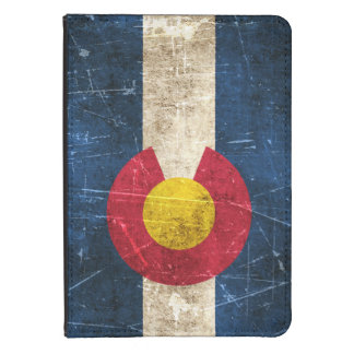 Vintage Aged and Scratched Flag of Colorado Kindle Cover