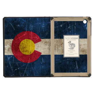 Vintage Aged and Scratched Flag of Colorado iPad Mini Case