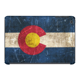 Vintage Aged and Scratched Flag of Colorado iPad Mini Retina Cases