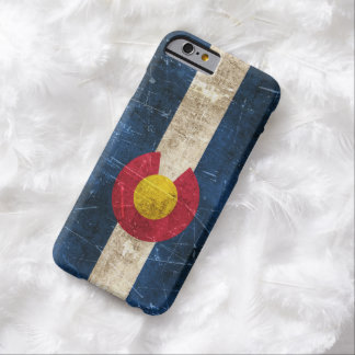 Vintage Aged and Scratched Flag of Colorado Barely There iPhone 6 Case