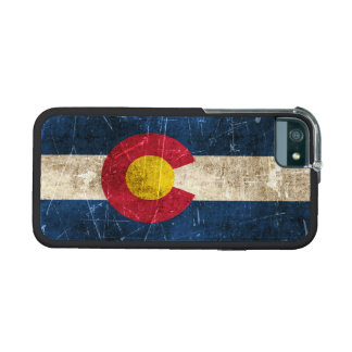 Vintage Aged and Scratched Flag of Colorado iPhone 5 Cover