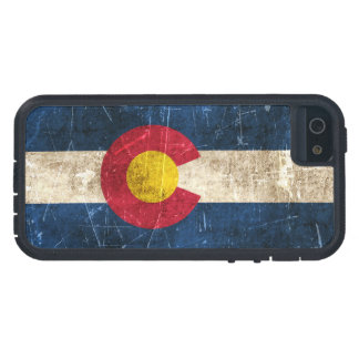 Vintage Aged and Scratched Flag of Colorado iPhone 5 Covers