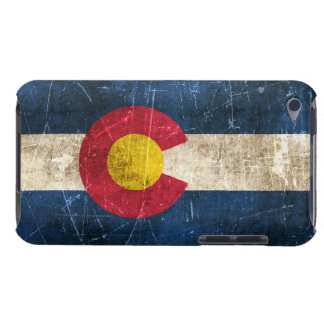 Vintage Aged and Scratched Flag of Colorado Barely There iPod Cover