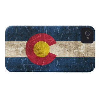 Vintage Aged and Scratched Flag of Colorado iPhone 4 Cover