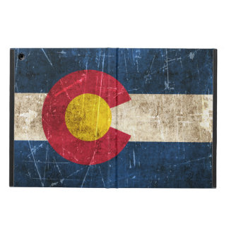 Vintage Aged and Scratched Flag of Colorado iPad Air Cases