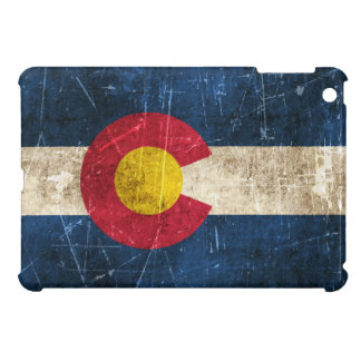 Vintage Aged and Scratched Flag of Colorado iPad Mini Cases
