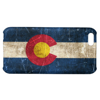Vintage Aged and Scratched Flag of Colorado iPhone 5C Case