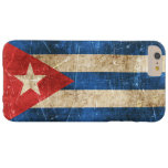 Vintage Aged and Scratched Flag of Cuba Barely There iPhone 6 Plus Case