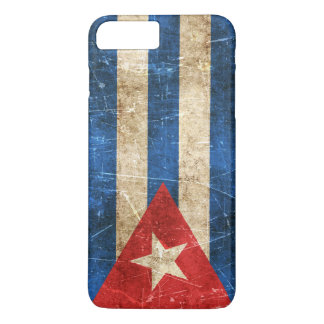 Vintage Aged and Scratched Flag of Cuba iPhone 7 Plus Case