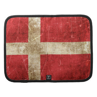 Vintage Aged and Scratched Flag of Denmark Planner