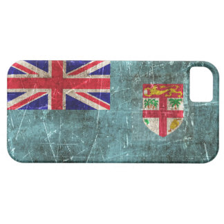 Vintage Aged and Scratched Flag of Fiji iPhone SE/5/5s Case
