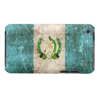 Vintage Aged and Scratched Flag of Guatemala Barely There iPod Cover