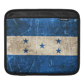 Vintage Aged and Scratched Flag of Honduras Sleeves For iPads
