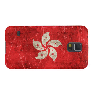 Vintage Aged and Scratched Flag of Hong Kong Galaxy S5 Cover
