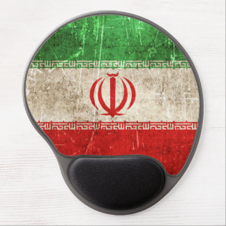 Vintage Aged and Scratched Flag of Iran Gel Mouse Pad